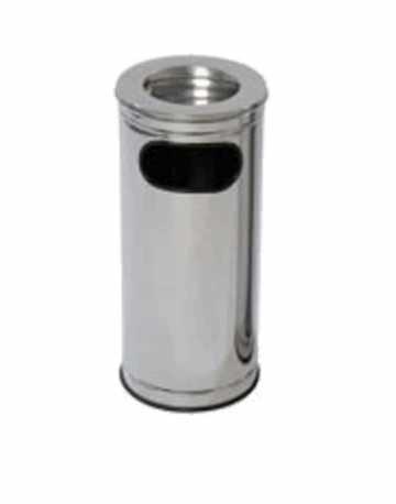 Cinzeiros Lixeira em Aço Inox com Aro em Aço Inox