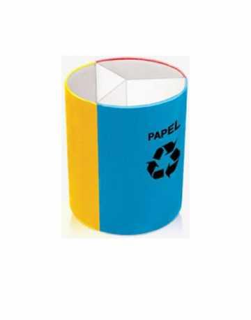 Lixeira com Divisões Fixas em Plástico