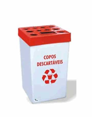 Dispensador p/ Copos Descartáveis (1500 copos) em (Fiberglass)