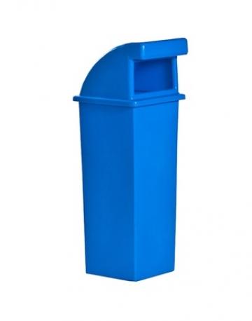 Lixeira Plástica Quadrada com Tampa Capacete