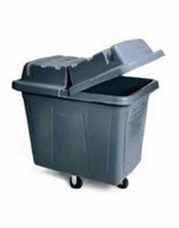 Lixeira Container Plástico com rodinhas e tampa 430 litros