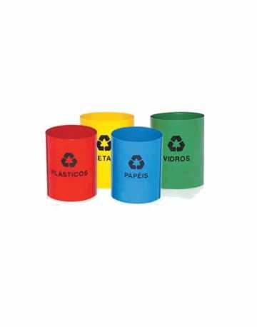 Lixeiras plásticas sem tampas para reciclagem - Tamanhos variáveis