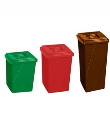 Cestos de Lixo Plástico Quadrado com Tampa