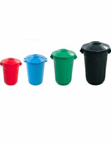 Cestos de Lixo Plástico Redondo com Tampa