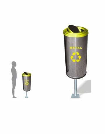 Lixeira de Aço Inox com Suporte 50 litros