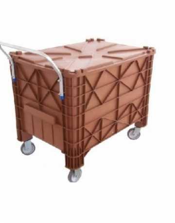 Lixeira Container Caixa Plástica 370 litros Com Rodas e Com tampa