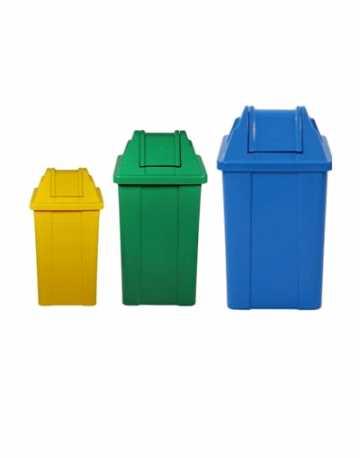 Cestos de Lixo Quadrado com Tampa Vai Vem