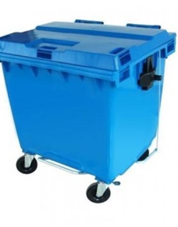 Lixeira tipo Container com Rodas e Pedal