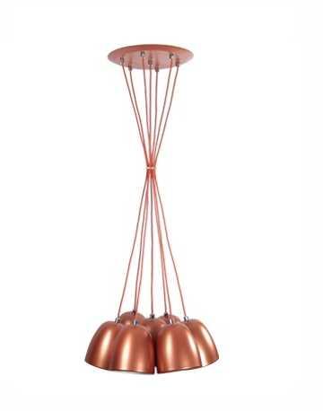 Luminária pendente estaiada para 7 lâmpadas