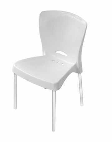 Cadeira com pés em aluminio