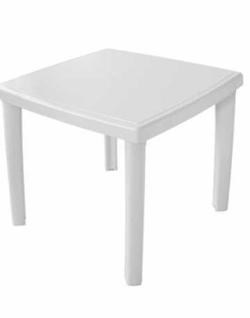Mesa quadrada 4 lugares com pés plasticos