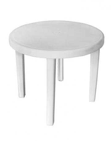 Mesa redonda 4 lugares com pés plásticos