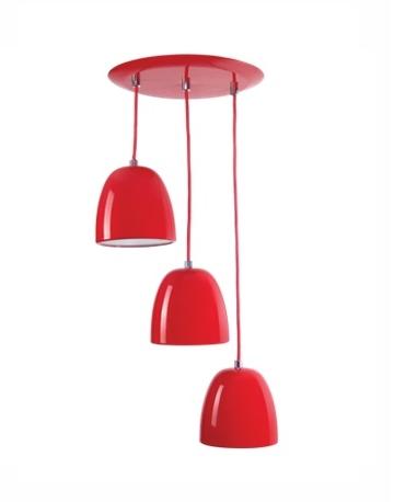 Luminária pendente escada para 3 lâmpadas