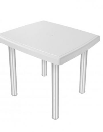 Mesa quadrada 4 lugares com pés em aluminio