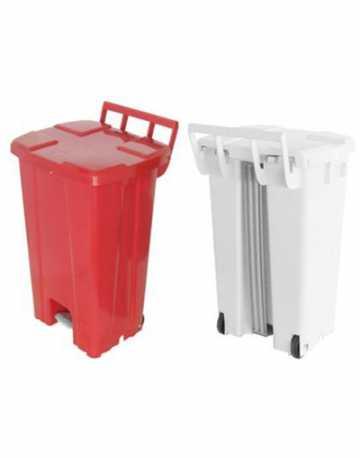 Lixeira Container com rodas e pedal 100 litros
