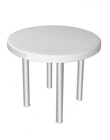 Mesa redonda 4 lugares com pés em aluminio